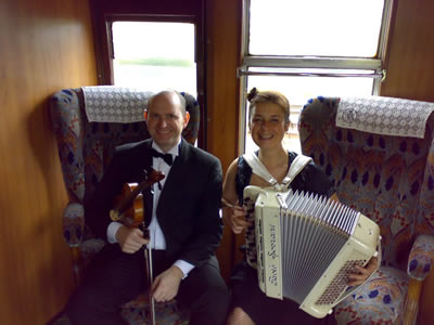 Fifi la Mer duo on the Orient Express.